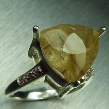 Anelli di lusso con gemme in oro giallo 18 carati zaffiro