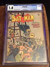 RARE VINTAGE GOLDEN AGE BATMAN #86 - CGC 1.8 - JOKER STORY & 1ST BATMARINE