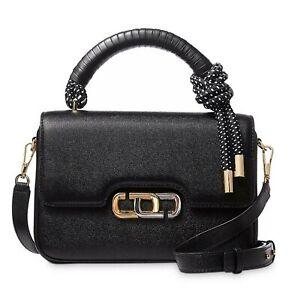 NWT THE MARC JACOBS The J Link Twist Leather Shoulder Bag ~ Black ~ M0017067