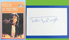 Autografo del cantautore e batterista Tullio De Piscopo - anni '80