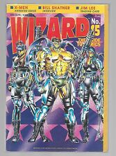 Wizard The Guide To Comics-Nove 1992-Vol 1 Number 15- X-Men Cover Nice Cover Vf