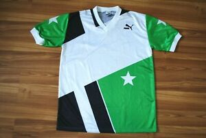 PUMA VINTAGE FOOTBALL JERSEY SHIRT MADE IN WEST GERMANY LARGE MENS 80s RETRO