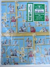 80's Holly Hobbie Gift Wrap Giant Single Sheet American Greetings 2.5' x 1.1 Yd
