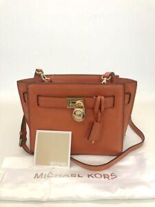 Michael Kors * Hamilton Leather Traveler Crossbody Bag Orange COD PayPal