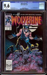 Wolverine # 1 CGC 9.6 White (Marvel, 1988) Begin series, 1st Wolverine as Patch