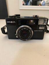 Vintage 1980s Minolta Hi-Matic AF2 Autofocus 35mm Camera w/strap (Not Tested)