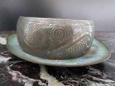 bracelet métal argenté art-déco vintage fait main CURIOSITY by PN