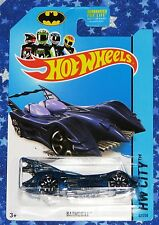 New Batman Hot Wheels Blue Batmobile Die Cast Car Toy from 2013 MISP