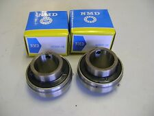 "2 Excellent Quality NMD Brand UC205-16 1"" Bore Axle Insert Mounted Bearings"