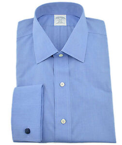 """$150 BROOKS BROTHERS Sky Blue """"346"""" French Cuffs Mens Shirt NEW COLLECTION"""