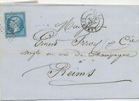 FRANKREICH 1863 20 C blau Kaiser Napoleon III EF Kab.-Bf m. Nummernstempel 1947