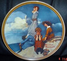 Knowles American Fine China WAITING ON THE SHORE By Norman Rockwell