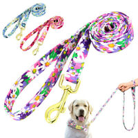 5ft Fashion Floral Nylon Pet Dog Lead Leash for Walking Small Medium Large Dogs
