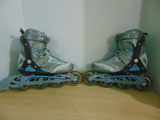 Inline Roller Skates Ladies Size 6 Firefly Grey Blue Excellent