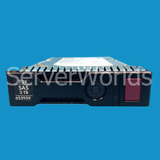 "Pair of 653959-001 652766-B21 HP 3TB 7.2K 6G DP 3.5"" hard drives SAS652755-003"