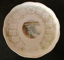 Antique  1910 CALENDAR PLATE NIAGARA FALLS MAYNARD MINNESOTA  NATIONAL CHINA CO