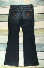 7 For All Mankind Womens 26 A Pocket STRETCH DARK Wash Jeans 26X33 FLARE #J2