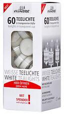 120 Teelichter im Spender Weiß 4 Stunden Brenndauer transparente Hülle Sparpack