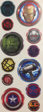 MARVEL ICON wall sticker 12 decals Captain America Hulk Spiderman superhero logo