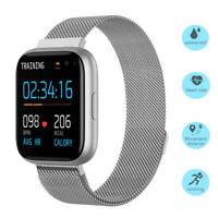 Damen Herren Smartwatch Fitness Tracker Sportuhr für iPhone ZTE Blade OnePlus 6T