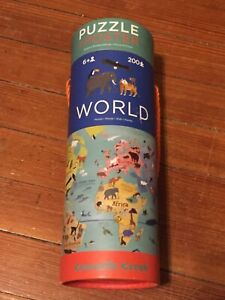 CROCODILE CREEK 200 Piece WORLD PUZZLE