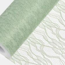 SAGE GREEN LACE NET ON A ROLL150mm x 10M wedding venue chair sash craft party