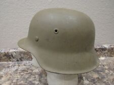 Wwii German M-42 helmet tan painted with liner and no chinstrap