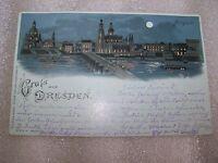 alte Ansichtskarte Postkarte Dresden Altstadt