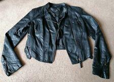 Atmosphere Faux Leather Biker Style Jacket Uk Size 12 Damage
