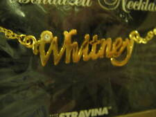 Necklace Gold & Silver Lot of 2 Personalized Whitney