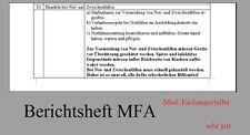 Berichtsheft Medizinische Fachangestellte MFA Berichte Heft Ausbildungsnachweis