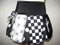 Black skulls Alternative pleated skirt Baby Black white pink tartan Shower Gift