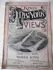 """LIBRO ANTICO BROSSURE """"KING'S NEW YORK VIEW"""" MOSES KING 1897"""