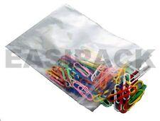 """300 x 5 /""""x 7.5/"""" ** Blanco Panel ** postal de plástico resellable agarre Sello Bolsas"""