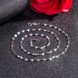 Genuine 925 Sterling Silver 3.0mm All Size Chain Necklace Italy Jewelry Gift