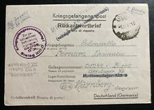 1944 Italy To Germany Stalag 13D POW Prisoner of War Letter Cover