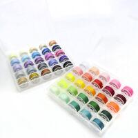 50 Color Nähgarn Coil Faden Spule Transparent Bobbin Case Box Set Hohe Qualität