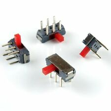 12pcs Miniature Slide Switches (tiny), DPDT, Right Angle for pcb mounting