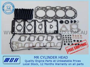 Isuzu / Holden Jackaroo 4JX1 VRS Head Gasket Kit + Head bolt Set 3.0L 4cyl TD