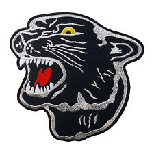 "6"" BLACK PANTHER PUMA JAGUAR Logo Embroidered Iron On Patch #PPT012"