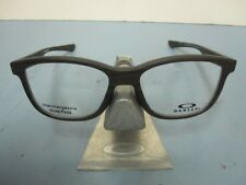 OAKLEY mens RX eyeglass frame Cross Step Trubridge Woodgrain OX8106-0350 New