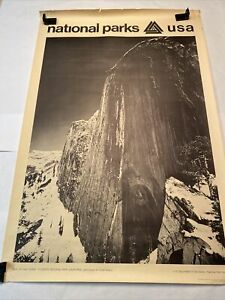 Original 1968 Ansel Adams National Parks Poster: Yosemite Face Of Half Dome