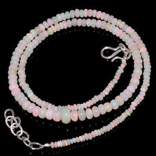 "36CRTS 2.5to5MM 18"" ETHIOPIAN OPAL RONDELLE BEAUTIFUL BEADS NECKLACE OBI2259"