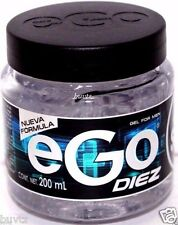 Hair GEL For MEN eGo DIEZ 6.7 Oz(200mL) Male Fragrance Extra STRONG No Alcohol