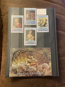 Antigua& Barbuda Stamps 450th Anniversary Of The Death Of Corregio MNH Sg 878-81