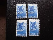 NORVEGE - timbre yvert et tellier n° 857 x4 obl (A30) stamp norway