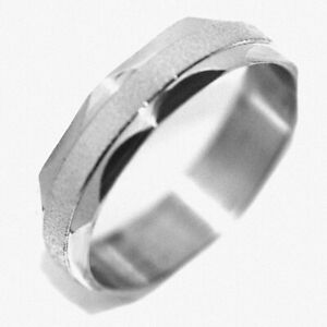 Big Mens Rings Womens Faced Stainless Steel Hip Hop Band Ring Size 8