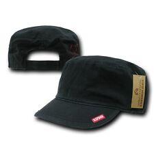 Black GI Patrol Military Army Basic Cadet Flat Top Adjust BDU Cap Hat Caps Hats
