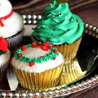 Aluminium Foil Baking Cups Paper Cupcake Wrappers Cup Muffin Box 100pcs