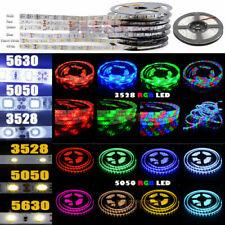 Super Bright 5M 10M 3528 5050 5630 SMD 300 600 LED Flexible Strip light DC12V US